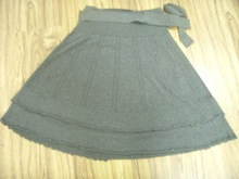 fashion women's short knitted skirt
