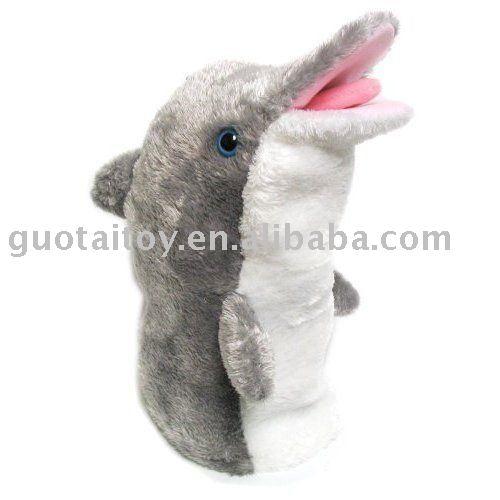 Delfines de títeres/delfín marioneta de mano/marionetas animales