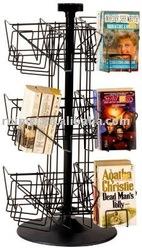 Desk-mounted Rotary Book Shelf DVD Holder CD Countertop Display Pop Display Brochure Stand Cards Display Shelf