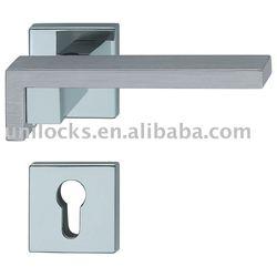 Zinc Alloy Square Door Handle Hardware Lock
