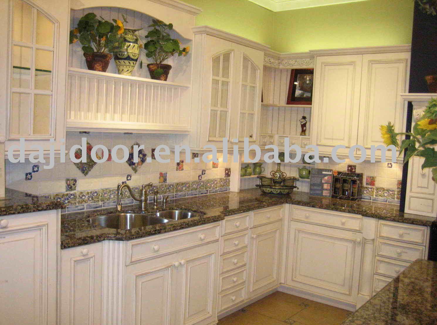 Les concepteurs artistiques armoires de cuisine en bois - Peindre des armoires en bois ...