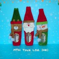 Christmas fabric wine bottle bag