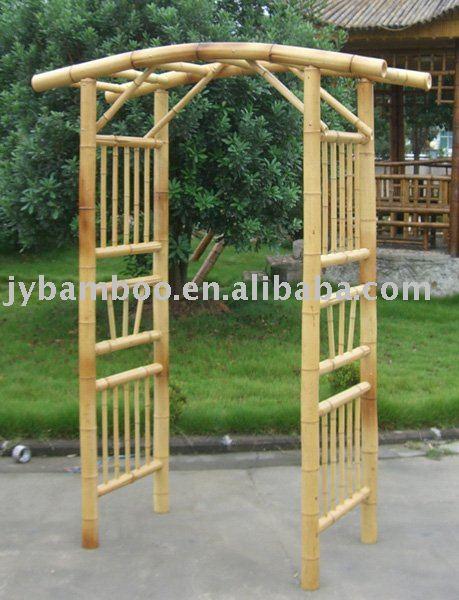 De bambu caramanch o p rgola arcos pavilh es pergolas - Pergola bambu ...