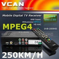 car DVB-T digital box for MPEG4/MPEG2 h.246 HDTV