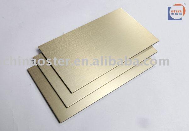 ... panel > gold brush acp && building material aluminum composite panel