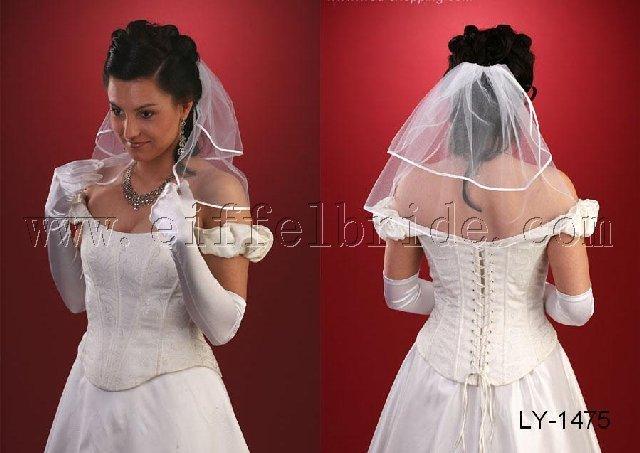 LY1475 short bridal veil
