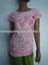 Hemp women tie dyed t-shirt