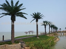 artificial big date palm trees