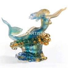 Colored Glaze Ocean Fairy CLCG132 Liuli Glaze Arts Crystal Glass