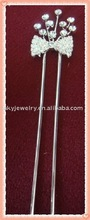 rhinestone hair fork,rhinestone hair fork decoration,fashion hair fork