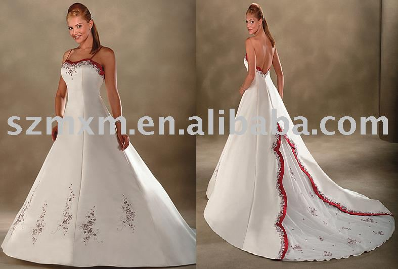 Red Christmas Wedding Dress J08 Bridal Gown