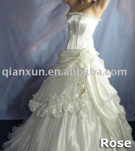 2009 new style satine cheap wedding dress for Chrismas Day