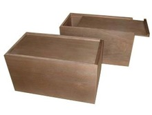 Wooden boxes with slider lid