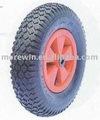 rueda de goma neumática con llanta de plástico