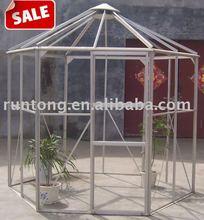 Qingdao RUNTONG Cold Frame, Walk In Greenhouse,Aluminum Hexagon Greenhouse