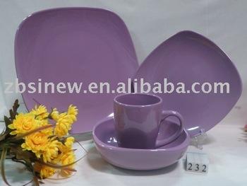 colorful ceramic dinnerware
