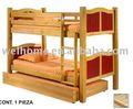 Beliche de madeira/cama de rodízio/móveis de madeira