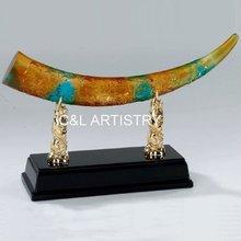 Liuli Family Guard Dragon CLCG009 Colored Glaze Crystal Glass China Wind Glaze Arts