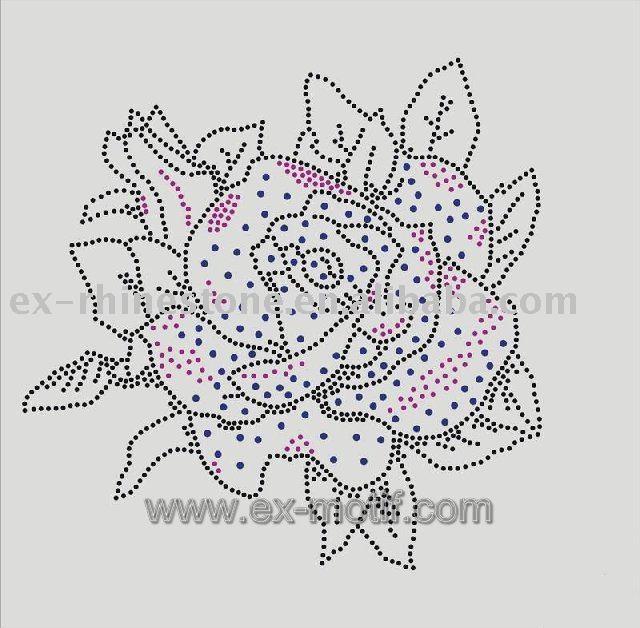 Rhinestone Motif Flower Design
