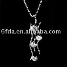 2012 diamart hot-sale high-quality lastest 925 silver pendant with zircon