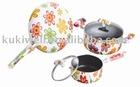 flower aluminum nonstick cookware set