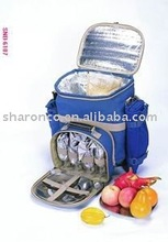 picnic bag/picnic trolly /picnic backpack with full dinner set for 2/4 persons