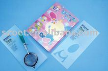 eco-friendly plastic die cut PP Transparent card