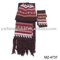 Knitted hat set,children glove,scarf set