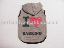 I love Barking dog t-shirts pet clothing dog hoodies wholesale---pet family