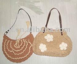 Ravelry: Straw Beach Bag with Elastic Drawstring pattern
