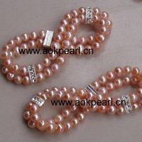 Double elastic fashion bracelet