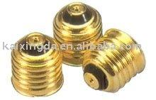 100% new good brass acid-wash lamp cap_E27