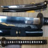 100% Handmade Katana Sword (1095 high carbon steel with real hamon)Wonderful for cutting tatami and bending