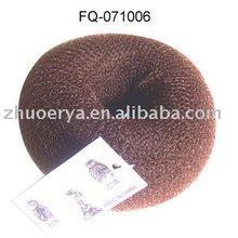 2014 popular nylon black hair donut, magic hair sponge bun, synthetic hair bun
