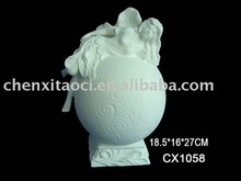 ceramic bisque fairy for decoration-bisque potteryware