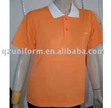 Short Sleeve Orange Cotton t-shirt&Workwear Shirts