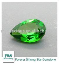 FSSCDPE0907 Brilliant Cut Pear Shape Chrome Diopside