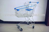 supermarket metal shopping push cart/trolley