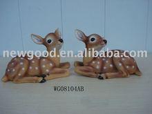 Polyresin figurine for garden decoration crafts of deer