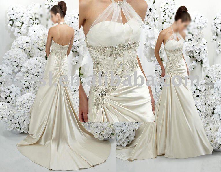 Bridal gown wedding dress rhinestones sl941