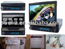 "7"" Single din in-dash car video with DVD Player(SK-730)"
