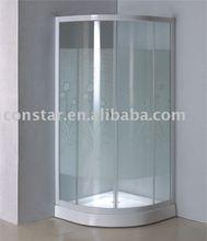 shower enclosure with flower design