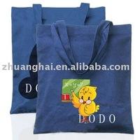 blue color cotton handled shopping bag