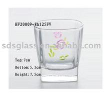 Machine pressed square whisky glass cup ITEM NO.HF20009-8h125FV