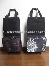 folding shopping bag with wheel