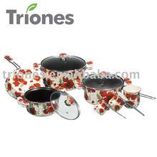 carbon steel non-stick Porcelain Enamel Saucepot, Fry Pan& Milk Pots
