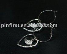 New Earrings Alloy Rhinestone Heart/Jewelry