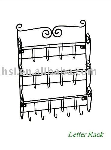 letter rack. wall letter rack.