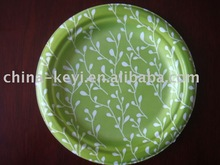colorful bagasse biodegradable plate(7')