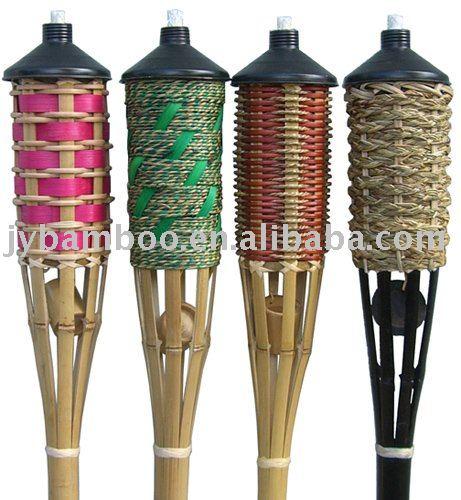 torche de bambou eclairage jardin id du produit 282914065. Black Bedroom Furniture Sets. Home Design Ideas